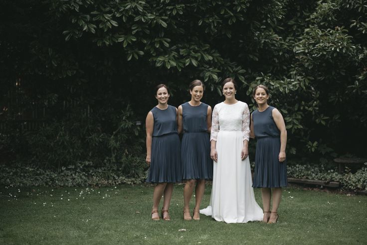 Bridesmaids at Claire McSherry's wedding in the lovely 'Melrose Tank Dress'