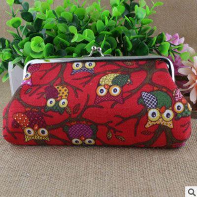 XIYUAN BRAND fashion Korea Creative Canvas Coin Purse wallet Owl cloth bag bolsa women for cellphone shopping and travel