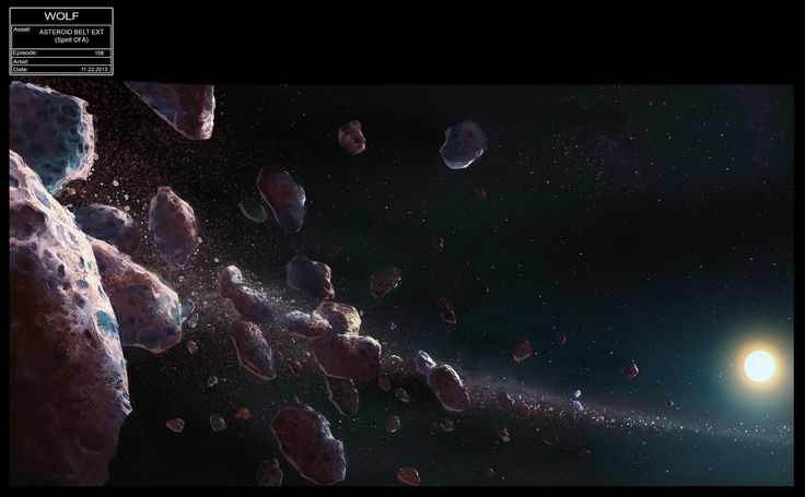 Out of Darkness Concept Art Gallery | Asteroid belt ill...
