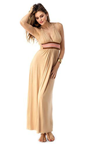 SKY Women's ASMAE Maxi Dress Honey