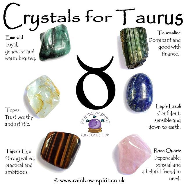 crystals for taurus ☀︎