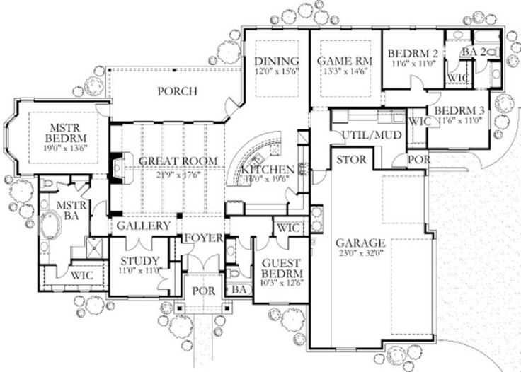 Main Floor Plan Dream Home Pinterest House Plans