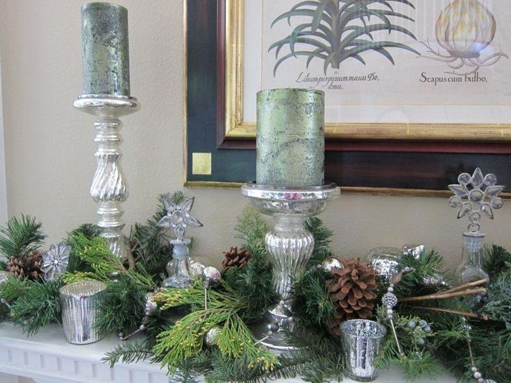 Silberne Kerzenständer für eine romantische, weihnachtliche Stimmung