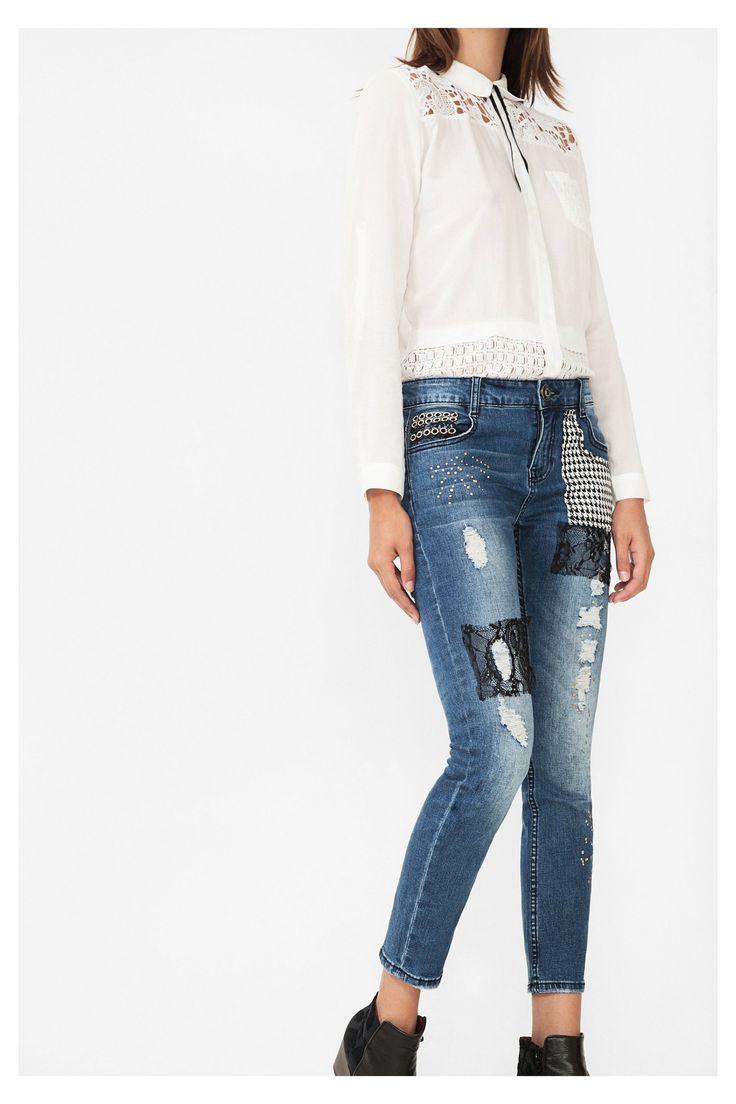 Ankle grazer jeans Denim   Desigual.com B