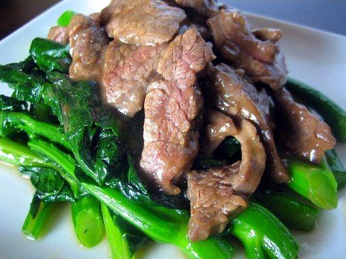 Recetas comida china - Carne de res con brocoli