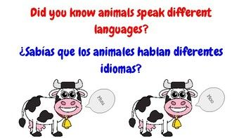 Here is a fundamental lesson on cognates.The main idea of this lesson is to teach students what a cognate is and to have them practice finding examples and non examples of cognates. Included in the lesson are some slides to guide your discussion, sentence frames to build oracy, a set of 12 cards with animal sounds in both languages, and an exit quiz.