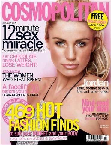 Katie Price - Cosmopolitan Magazine Cover [United Kingdom] (April 2007)