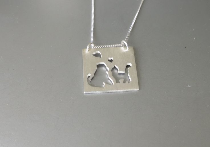Dog loves cat and cat loves dog by Artistic925Jewellery on Etsy
