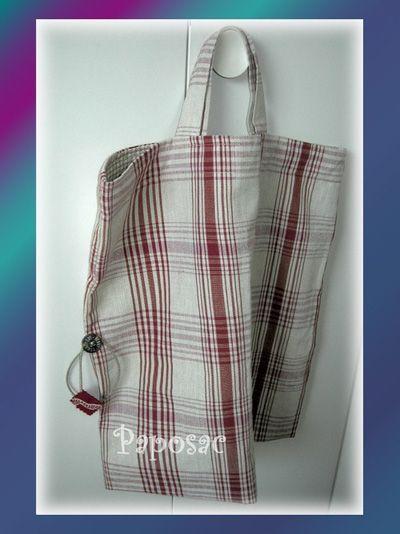 Sac de courses en tissu, Patron couture gratuit