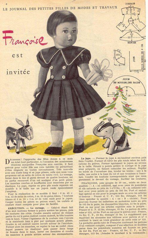 Modes et Travaux Décembre 1955 , Les poupées à trousseau