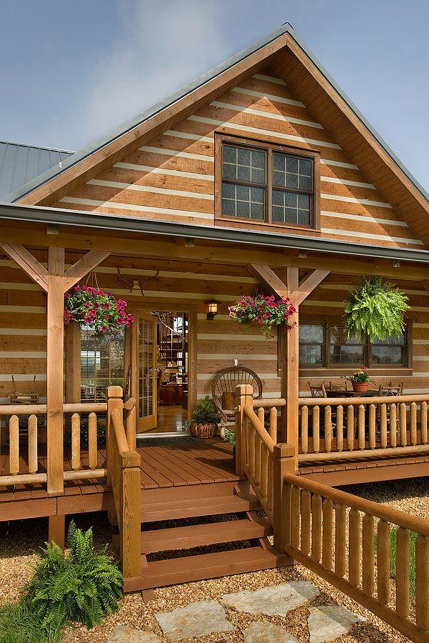 23 best images about porches honest abe log homes on - Porches de casas ...