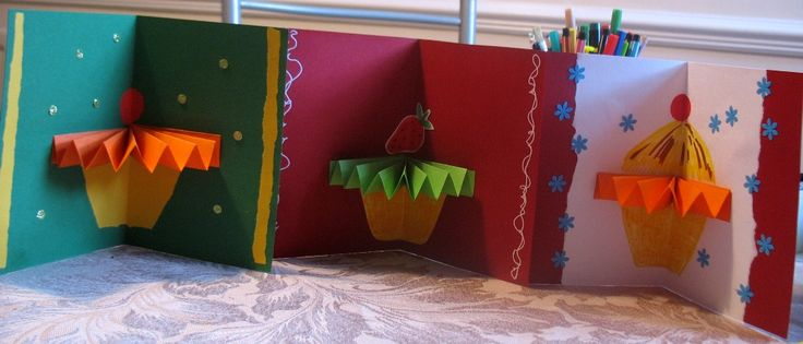 Just saw these on kids show Mister Maker - very cool & easy DIY card idea - also made a ballerina and a clown
