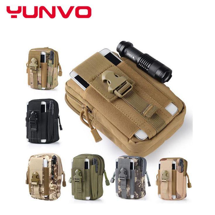 Universal Funda Táctica Militar Molle Al Aire Libre Hip Cinturón de Cintura Bolsa caja del teléfono monedero bolsa de la carpeta cremallera para iphone 7 emerso lg