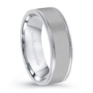 Plain Milgrain Engagement Band