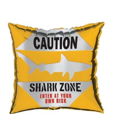 Caution Shark Balloon | Party City