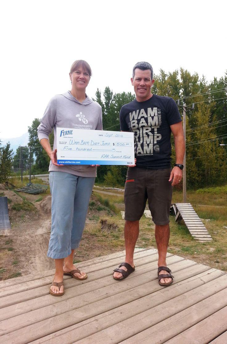 The Fernie Alpine Resort Summit Fund recently contributed to this year's Wam Bam Dirt Jump Jam!  An annual mountain biking festival in Fernie, B.C.