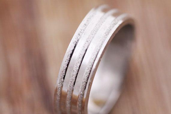 Gold Ring Womens Gold Wedding Band 14k Gold by PetrosJewels
