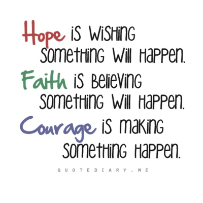 Hope, Faith, Courage