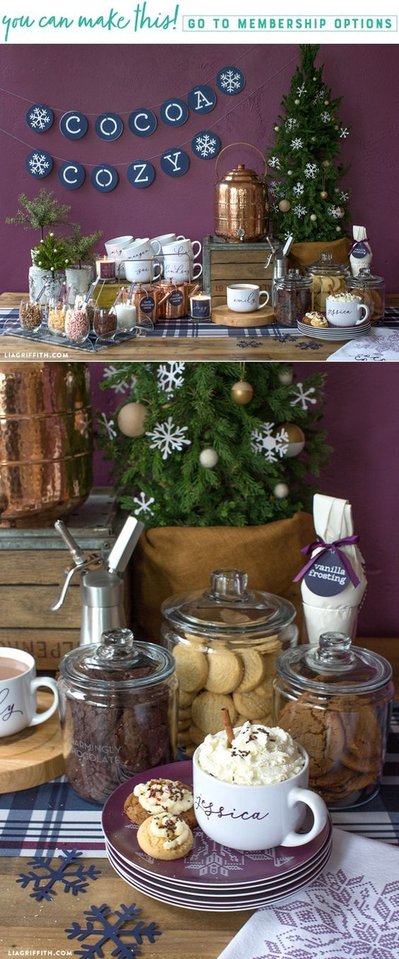 DIY Cookie and Hot Chocolate Bar - Lia Griffith - www.liagriffith.com #spons @shutterfly #diyparty #hotchocolatebar #cookiesandcocoa #diyinspiration #diyidea #diyideas #madewithlia