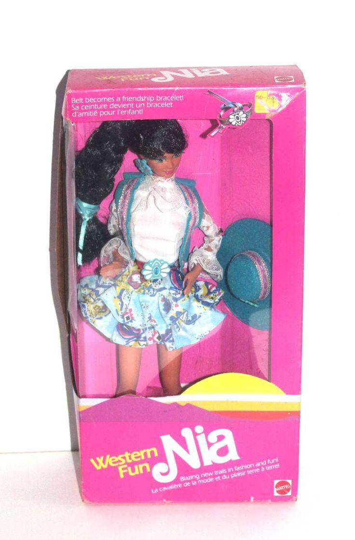 NIB 1980s Western Fun Nia Barbie Doll, 80s Kids, Girl Toys, Antique Alchemy