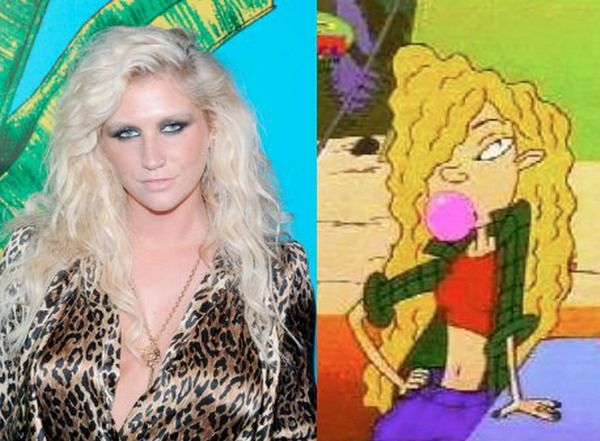 Celeb Cartoon look-alikes. Ke$ha: Debbie Thornberry