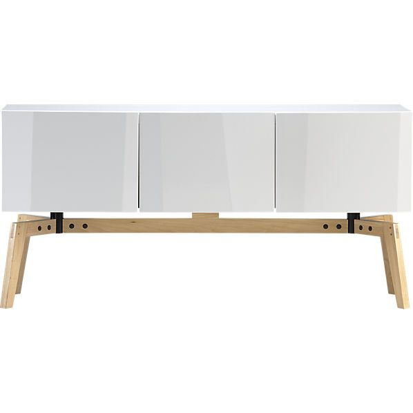 Scheme 2 - console for beneath TV - alba credenza -  Maria said she would like closed storage for the av components