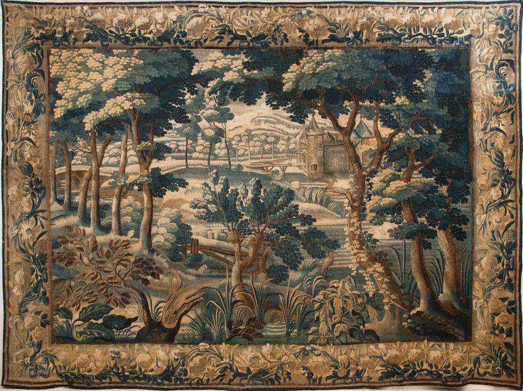 18th Century Aubusson Verdure Tapestry | From a unique collection of antique and modern tapestries at https://www.1stdibs.com/furniture/wall-decorations/tapestry/