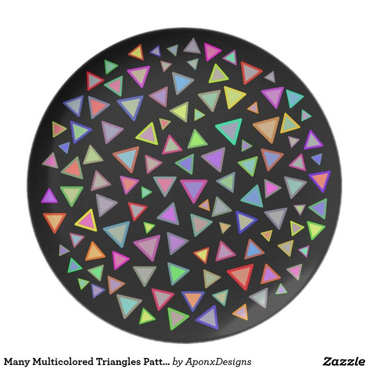 Many Multicolored Triangles Pattern