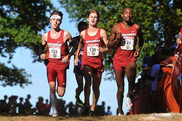 arkansas cross country | From left: Arkansas runners Alex George, Frankline Tonui and Christian ...