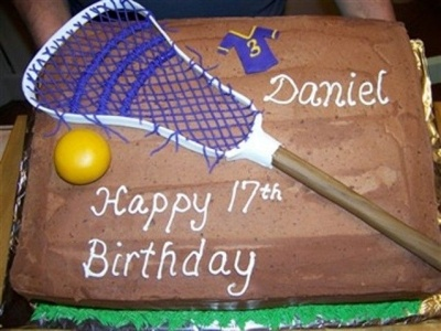Lacrosse Cake By msulli10 on CakeCentral.com