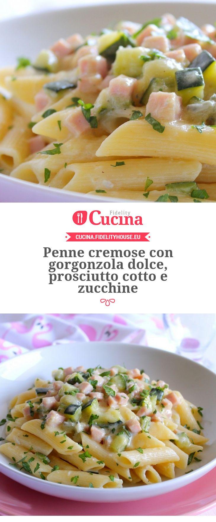 Penne cremose con #gorgonzola dolce, prosciutto cotto e #zucchine della nostra…