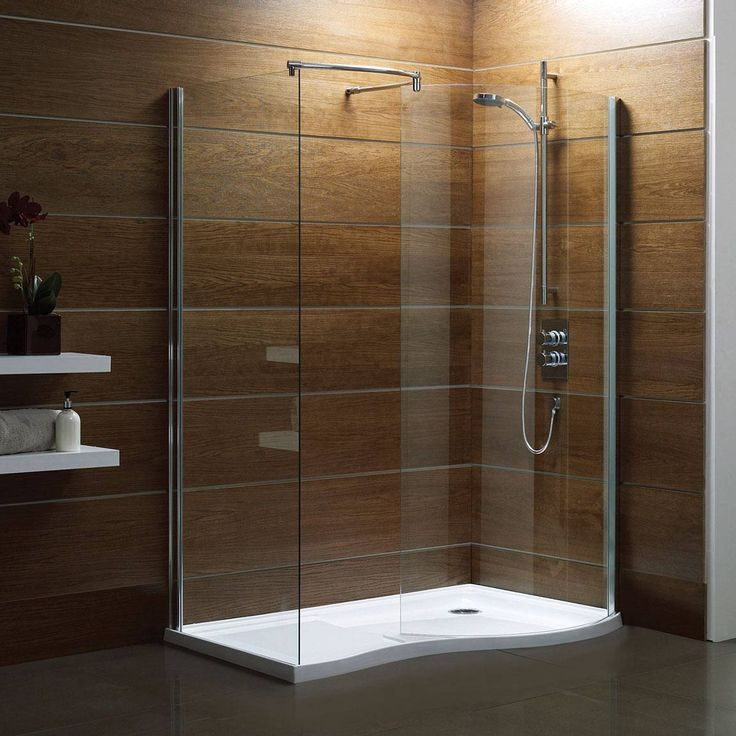 V6 Curved Walk In Shower Enclosure Pack 1400 x 900 - Right Hand