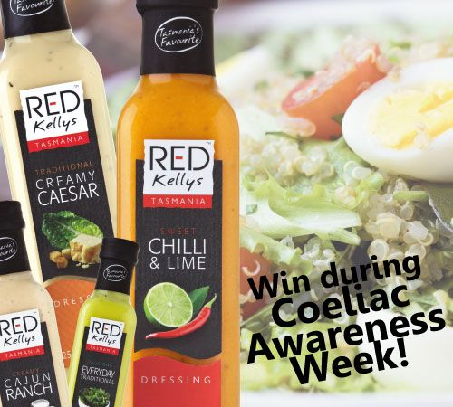 Win this pack of Red Kellys Tasmania dressings during #CoeliacAwarenessWeek! Simply: 1. Tag a friend with Coeliac disease or an intolerance to gluten in the comments below. For example @joebloggs 2. Go in the draw to win! ‪#‎CoeliacAwarenessWeek‬ ‪#‎glutenfree‬