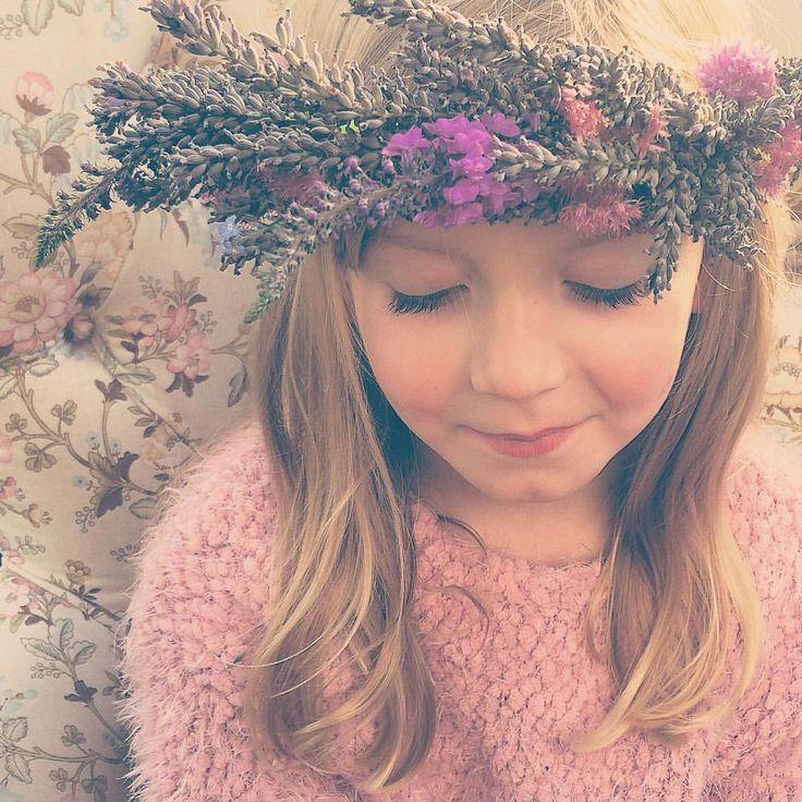 Ava  #folkydokey #flowercrown #floralcrown #floralhalo #flowerhalo #lavender #flowers #flowergirl po