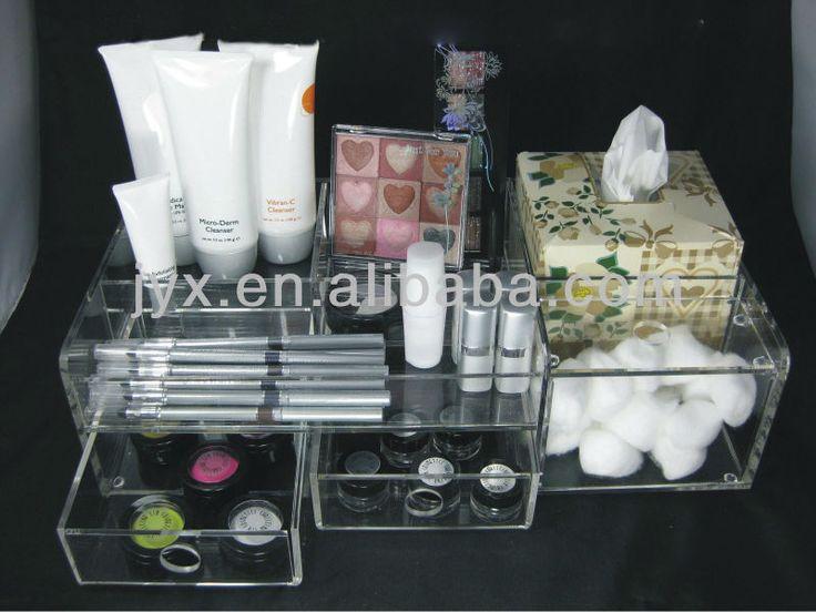 Deluxe acrilico mostrador superior de almacenamiento de maquillaje-imagen-Estantes de Expositor-Identificación del producto:689364137-spanish.alibaba.com