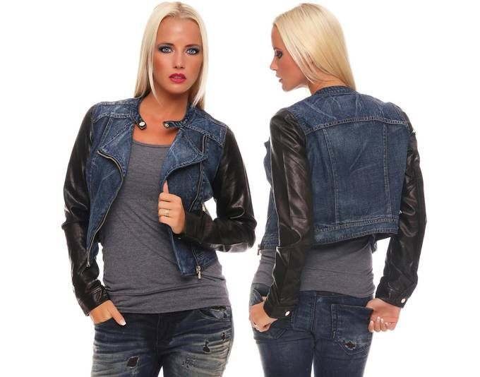 Damen Jeans Jacke Kurzjacke Jacke mit PU Ärmel Gr. S M L XL, 8803 Blau XL/42 Jetzt bestellen unter: https://mode.ladendirekt.de/damen/bekleidung/jacken/jeansjacken/?uid=e29aaefc-db5b-5cf8-bc68-340be154e368&utm_source=pinterest&utm_medium=pin&utm_campaign=boards #jeansjacken #bekleidung #jacken