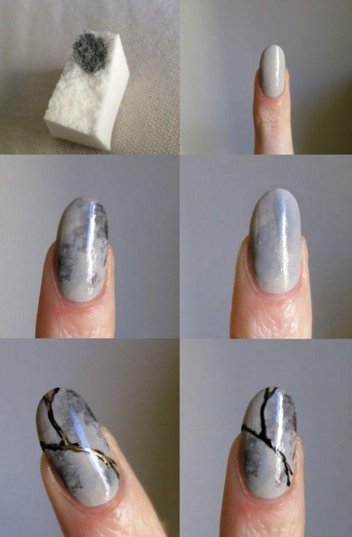 Les Tendances Chez La Deco Ongles 62 Variantes En Photos Idee Ongles Ongles Ongles Faciles