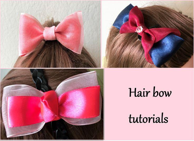 Easy DIY Hair Bow Tutorials :Ribbon Hair bows : Hur man gör en hår rosett : Boutique Hair Bow