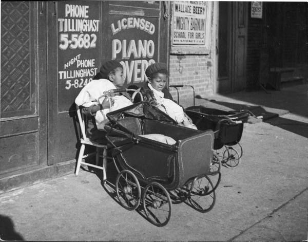 Beret-clad African American girls minding babies in carriages in Harlem. New York, 1934. Dorien Leigh, photographer. Life Photo Archives, © Time Inc., Courtesy of LIFE.com