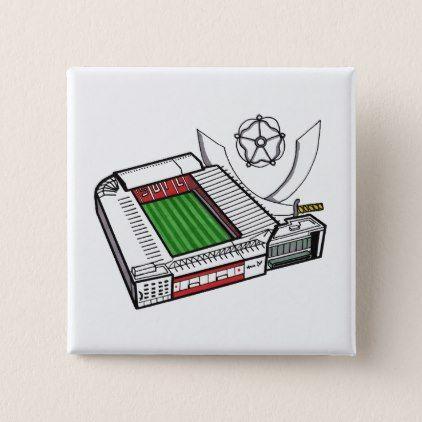 Sheffield United Bramall Lane Badge Pinback Button - accessories accessory gift idea stylish unique custom