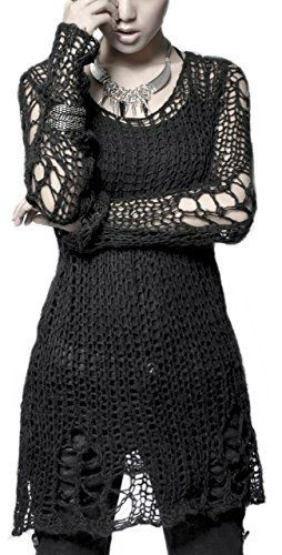 Punk Rave Visual Kei Loose-Knit Pullover Tunic Black Punk Rave http://www.amazon.co.uk/dp/B00GGSS336/ref=cm_sw_r_pi_dp_yjDOvb05K5ABA