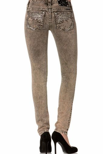 Miss Me Jeans Women's Olive Skinny Jeans #Clearance Sale! Click to buy.