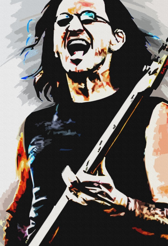 Geddy Lee of RUSH Rock Legend Classic Original ART by StoneyPrints, $16.80