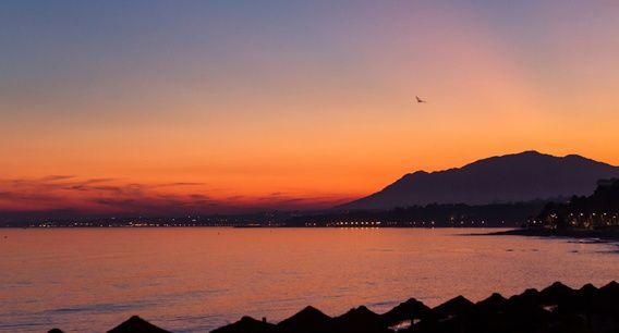 Sunset Marbella, Spanje.
