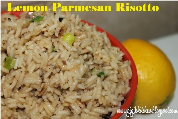 Zesty Lemon Parmesan Risotto Recipe | My Cooking and Baking | Pintere ...
