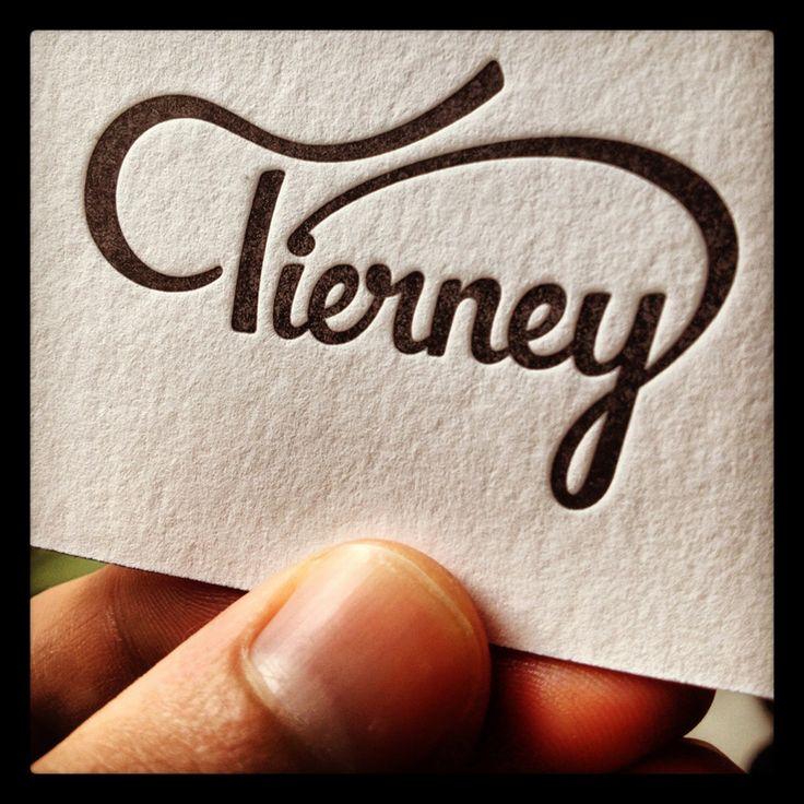 Tierney, elegant scripted type