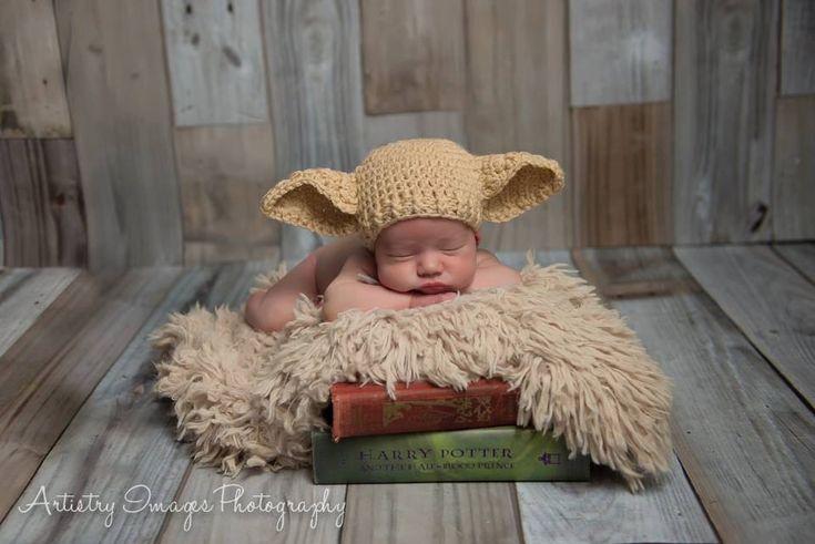 Elf Hat Dobby cappello dimensione neonato 0 3m di NitaMaesGarden