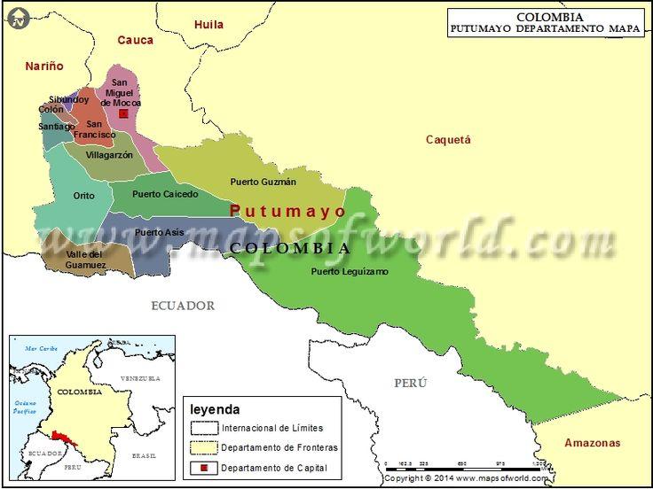 Mapa del Putumayo