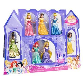 $30 Exclusive Disney Princess Small Doll Magiclip Princess 7-Pack | ToysRUs