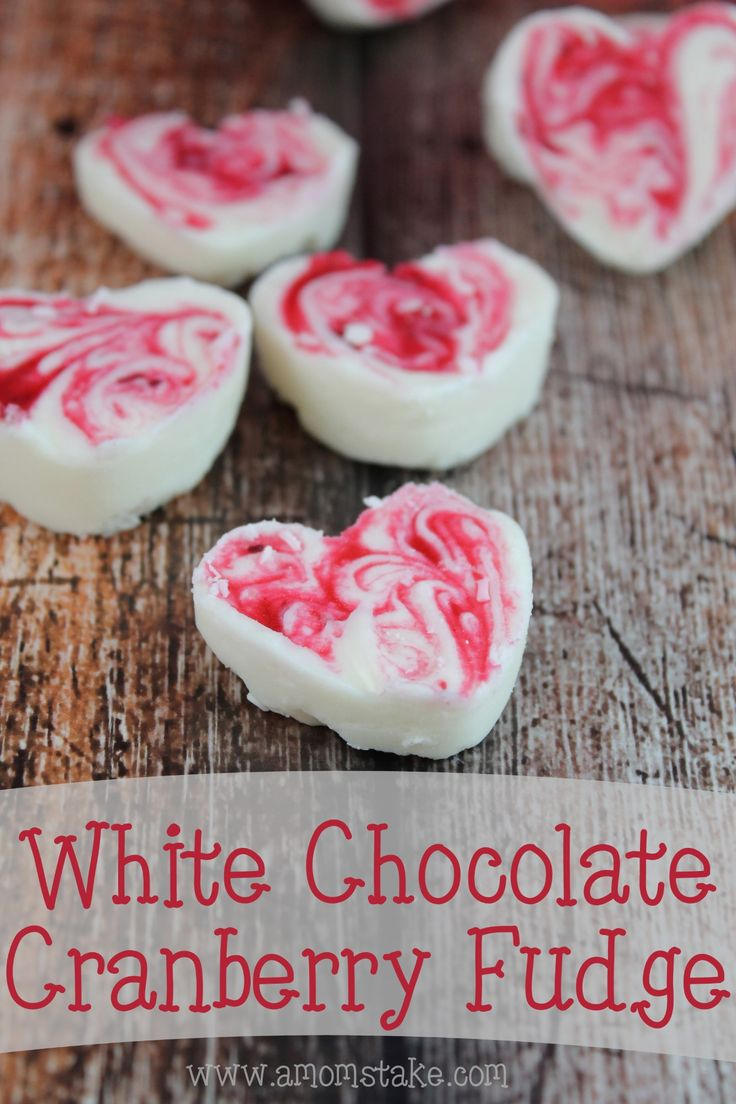 White Chocolate Cranberry Fudge – Making fudge for your valentine couldn't get any easier. Only five ingredients in this simple dessert!